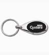 CY1-009 - Cyxtera Oval Black/Silver Key Tag