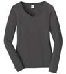 LPC450VLS - Ladies' L/S Favorite V-Neck Tee