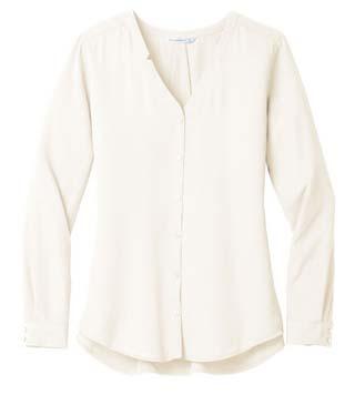 Ladies' L/S Button-Front Blouse