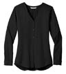 LW700 - Ladies' L/S Button-Front Blouse